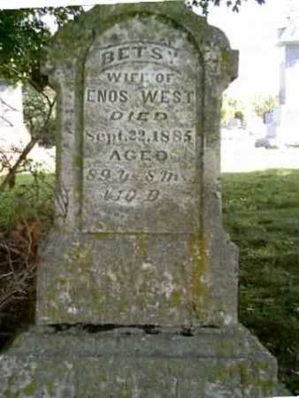 WEST, BETSY - Highland County, Ohio | BETSY WEST - Ohio Gravestone Photos