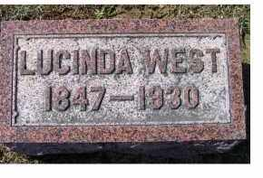 WEST, LUCINDA - Highland County, Ohio | LUCINDA WEST - Ohio Gravestone Photos
