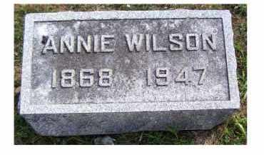 WILSON, ANNIE - Highland County, Ohio | ANNIE WILSON - Ohio Gravestone Photos