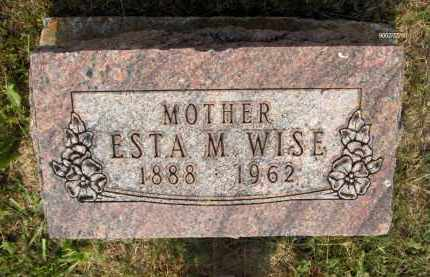 WISE, ESTA M - Highland County, Ohio | ESTA M WISE - Ohio Gravestone Photos