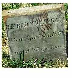 WOOD, REBECCA - Highland County, Ohio | REBECCA WOOD - Ohio Gravestone Photos