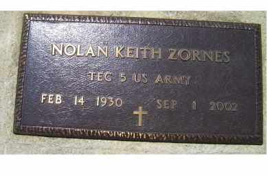 ZORNES, NOLAN KEITH - Highland County, Ohio | NOLAN KEITH ZORNES - Ohio Gravestone Photos