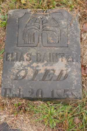 BAINTER, ELIAS - Hocking County, Ohio | ELIAS BAINTER - Ohio Gravestone Photos