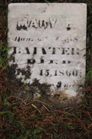 BAINTER, MARY L. - Hocking County, Ohio | MARY L. BAINTER - Ohio Gravestone Photos