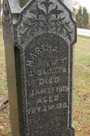 BAINTER, MARTHA - Hocking County, Ohio | MARTHA BAINTER - Ohio Gravestone Photos