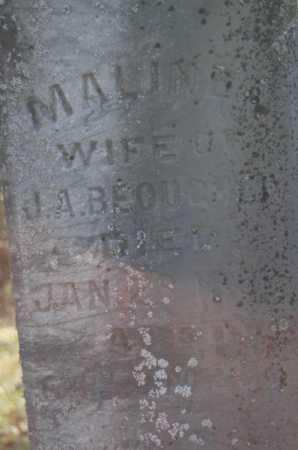 BEOUGHER, MALINDA - Hocking County, Ohio | MALINDA BEOUGHER - Ohio Gravestone Photos