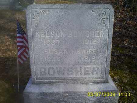 BOWSHER, NELSON - Hocking County, Ohio | NELSON BOWSHER - Ohio Gravestone Photos