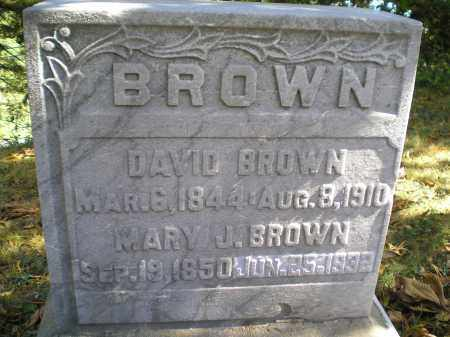 BROWN, DAVID - Hocking County, Ohio | DAVID BROWN - Ohio Gravestone Photos