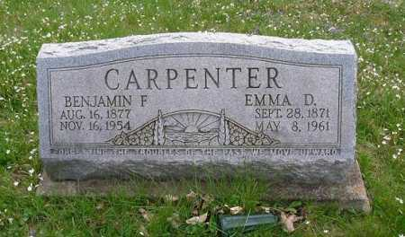 CARPENTER, EMMA D. - Hocking County, Ohio | EMMA D. CARPENTER - Ohio Gravestone Photos