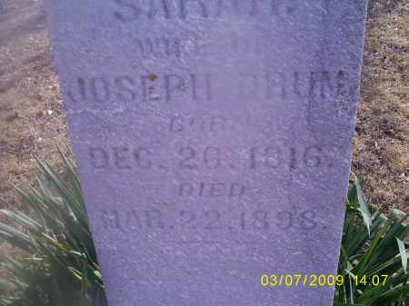 DRUM, SARAH - Hocking County, Ohio | SARAH DRUM - Ohio Gravestone Photos