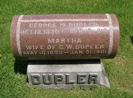 DUPLER, MARTHA - Hocking County, Ohio | MARTHA DUPLER - Ohio Gravestone Photos