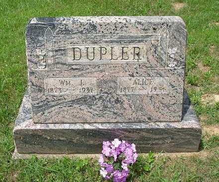 DUPLER, ALICE - Hocking County, Ohio | ALICE DUPLER - Ohio Gravestone Photos