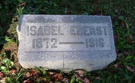 EBERST, ISABEL - Hocking County, Ohio | ISABEL EBERST - Ohio Gravestone Photos