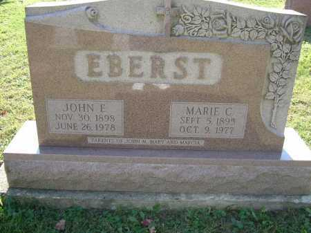 EBERST, JOHN E. - Hocking County, Ohio | JOHN E. EBERST - Ohio Gravestone Photos