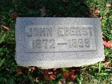 EBERST, JOHN - Hocking County, Ohio | JOHN EBERST - Ohio Gravestone Photos