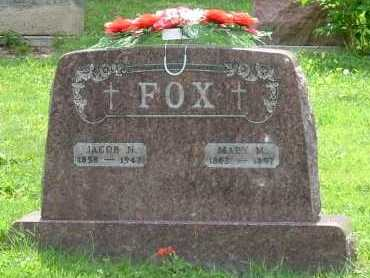 FOX, MARY M. - Hocking County, Ohio | MARY M. FOX - Ohio Gravestone Photos