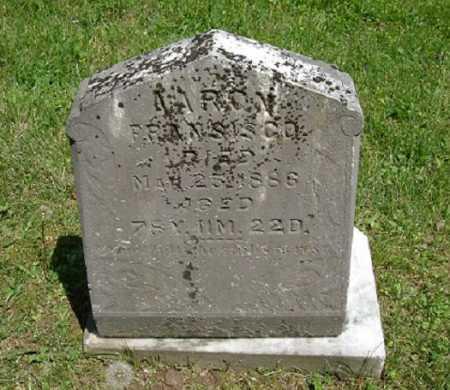 FRANCISCO, AARON - Hocking County, Ohio | AARON FRANCISCO - Ohio Gravestone Photos