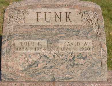 FUNK, DAVID W. - Hocking County, Ohio | DAVID W. FUNK - Ohio Gravestone Photos