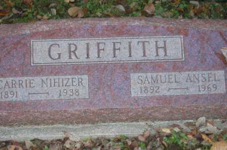 GRIFFITH, CARRIE SABRE - Hocking County, Ohio | CARRIE SABRE GRIFFITH - Ohio Gravestone Photos