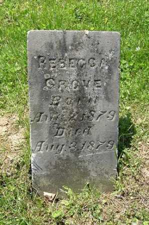 GROVE, REBECCA - Hocking County, Ohio | REBECCA GROVE - Ohio Gravestone Photos