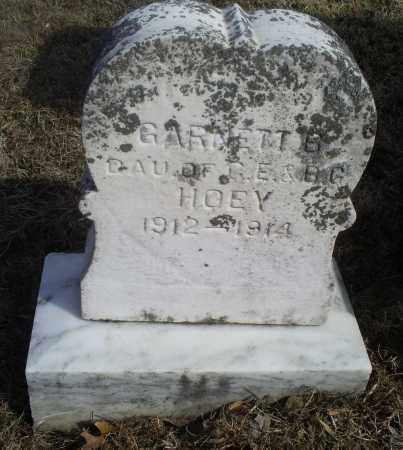 HOEY, GARNETT B. - Hocking County, Ohio   GARNETT B. HOEY - Ohio Gravestone Photos