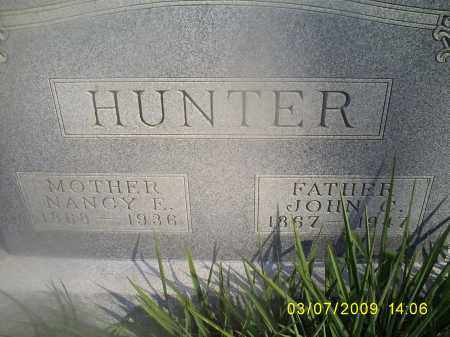 HUNTER, NANCY E. - Hocking County, Ohio | NANCY E. HUNTER - Ohio Gravestone Photos