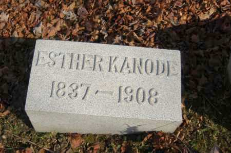 KANODE, ESTHER - Hocking County, Ohio | ESTHER KANODE - Ohio Gravestone Photos