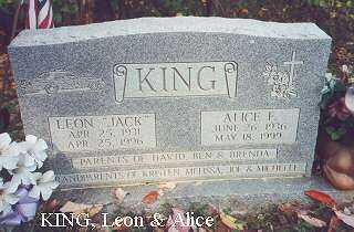 KING, ALICE F. - Hocking County, Ohio | ALICE F. KING - Ohio Gravestone Photos