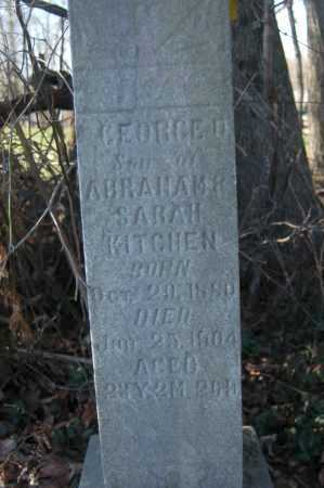 KITCHEN, GEORGE M. - Hocking County, Ohio | GEORGE M. KITCHEN - Ohio Gravestone Photos