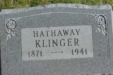 KLINGER, HATHAWAY - Hocking County, Ohio | HATHAWAY KLINGER - Ohio Gravestone Photos