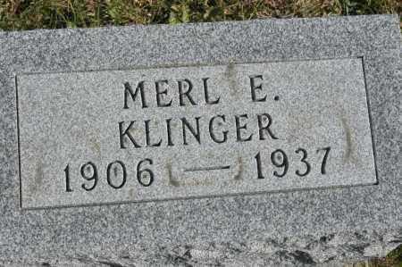 KLINGER, MERL E - Hocking County, Ohio | MERL E KLINGER - Ohio Gravestone Photos