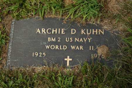 KUHN, ARCHIE D - Hocking County, Ohio | ARCHIE D KUHN - Ohio Gravestone Photos