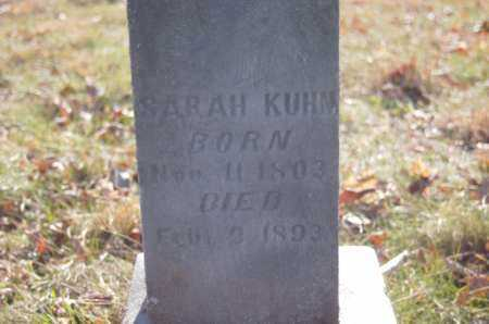 KUHN, SARAH - Hocking County, Ohio | SARAH KUHN - Ohio Gravestone Photos