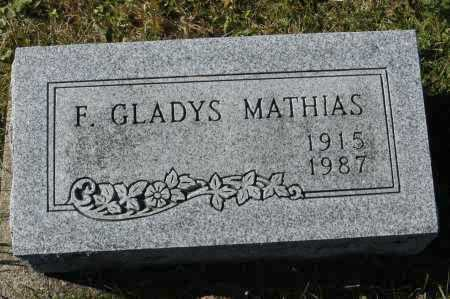 MATHIAS, F. GLADYS - Hocking County, Ohio | F. GLADYS MATHIAS - Ohio Gravestone Photos