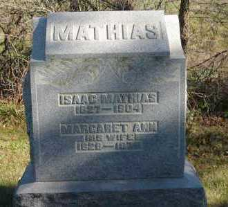 MATHIAS, MARGARET ANN - Hocking County, Ohio | MARGARET ANN MATHIAS - Ohio Gravestone Photos