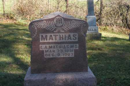 MATHIAS, L. A. - Hocking County, Ohio | L. A. MATHIAS - Ohio Gravestone Photos