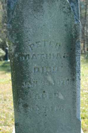 MATHIAS, PETER - Hocking County, Ohio | PETER MATHIAS - Ohio Gravestone Photos