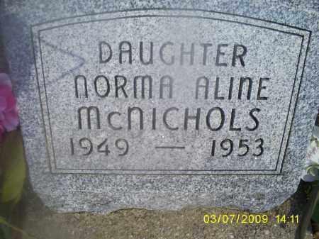 MCNICHOLS, NORMA ALINE - Hocking County, Ohio | NORMA ALINE MCNICHOLS - Ohio Gravestone Photos