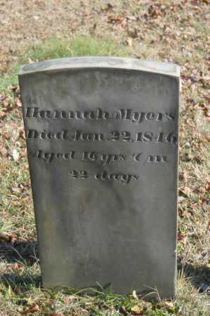 MYERS, HANNAH - Hocking County, Ohio | HANNAH MYERS - Ohio Gravestone Photos