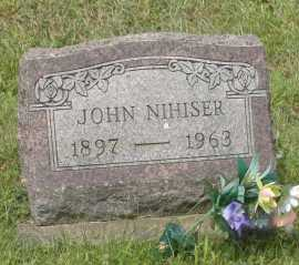 NIHISER, JOHN - Hocking County, Ohio | JOHN NIHISER - Ohio Gravestone Photos