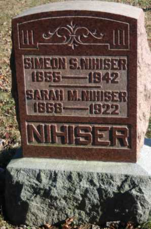NIHISER, SIMEON STEPHEN - Hocking County, Ohio | SIMEON STEPHEN NIHISER - Ohio Gravestone Photos