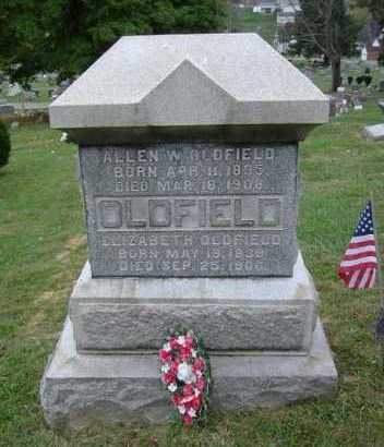 OLDFIELD, ELIZABETH - Hocking County, Ohio | ELIZABETH OLDFIELD - Ohio Gravestone Photos