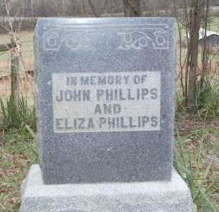 PHILLIPS, JOHN & ELIZA - Hocking County, Ohio | JOHN & ELIZA PHILLIPS - Ohio Gravestone Photos