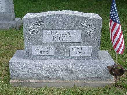 RIGGS, CHARLES R. - Hocking County, Ohio | CHARLES R. RIGGS - Ohio Gravestone Photos