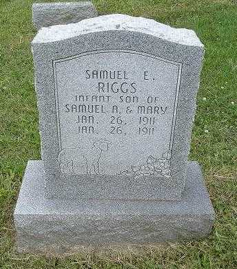 RIGGS, SAMUEL E. - Hocking County, Ohio | SAMUEL E. RIGGS - Ohio Gravestone Photos