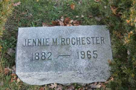 ROCHESTER, JENNIE M - Hocking County, Ohio | JENNIE M ROCHESTER - Ohio Gravestone Photos