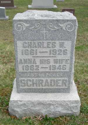 SCHRADER, ANNA - Hocking County, Ohio | ANNA SCHRADER - Ohio Gravestone Photos