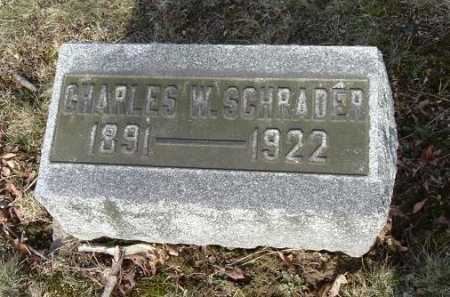 SCHRADER, CHARLES W. - Hocking County, Ohio | CHARLES W. SCHRADER - Ohio Gravestone Photos