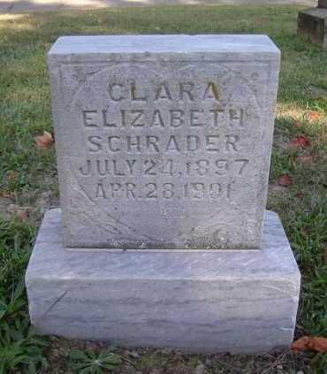 SCHRADER, CLARA ELIZABETH - Hocking County, Ohio | CLARA ELIZABETH SCHRADER - Ohio Gravestone Photos