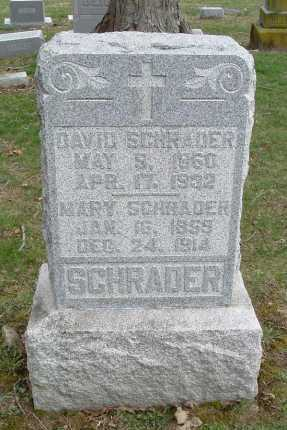 SCHRADER, DAVID - Hocking County, Ohio | DAVID SCHRADER - Ohio Gravestone Photos